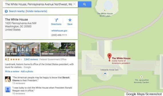 Edward Snowden está en la Casa Blanca, según Google