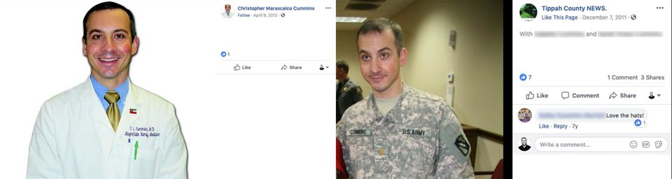 Christopher Cummins, a lieutenant colonel physician in the Army Reserve.Many of his biographical...
