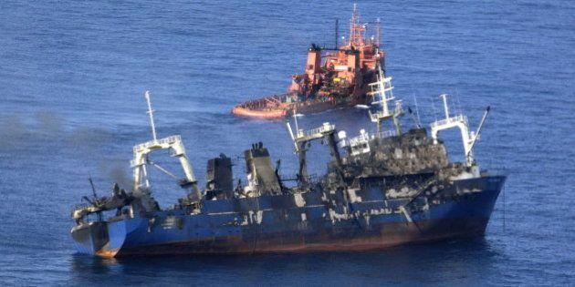 El pesquero ruso Oleg Naydenov se hunde a 15 millas al sur de Punta Maspalomas, en Gran