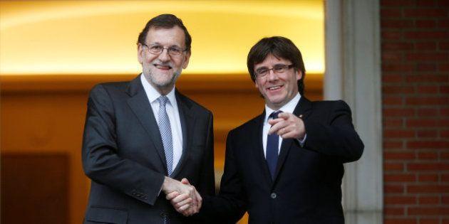 Puigdemont sale de Moncloa con el 'no' cordial de Rajoy a la consulta