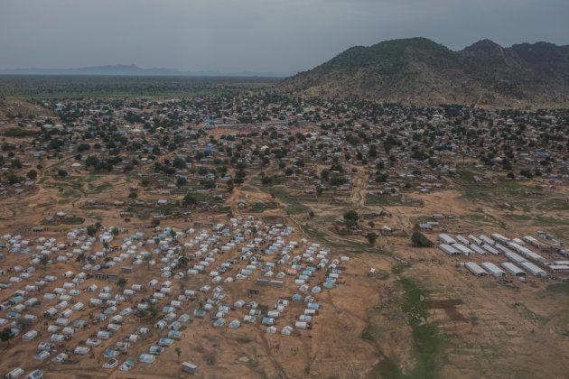 La ciudad de Pulka, en el noroeste del estado de Borno, cerca de la frontera con Camerún. Allí se hacinan...