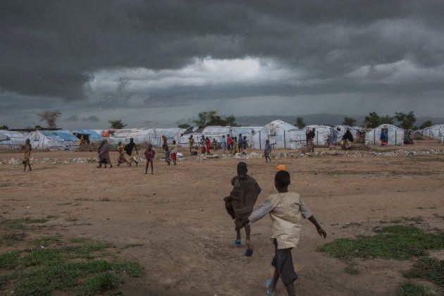 Campamento de desplazados de