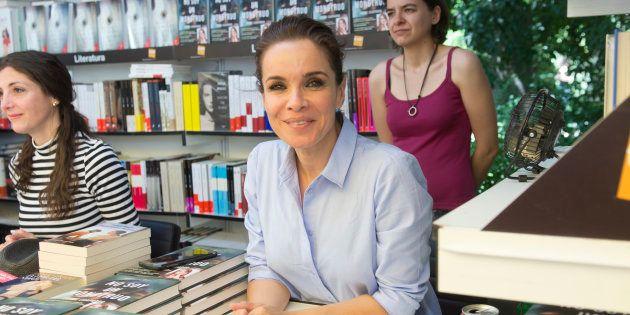 La periodista Carme Chaparro durante la presentación del libro 'No soy un monstruo' durante la Feria...