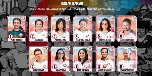 #Dreamteam26J, la colección de cromos con la que Unidos Podemos luce a sus