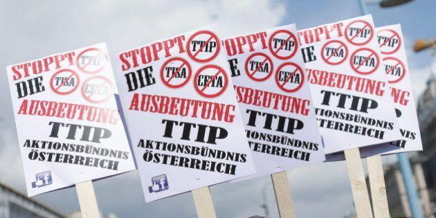 Europa se echa a la calle contra el nuevo tratado de comercio con