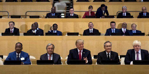 El presidente de EEUU, Donald Trump, durante su debut en la