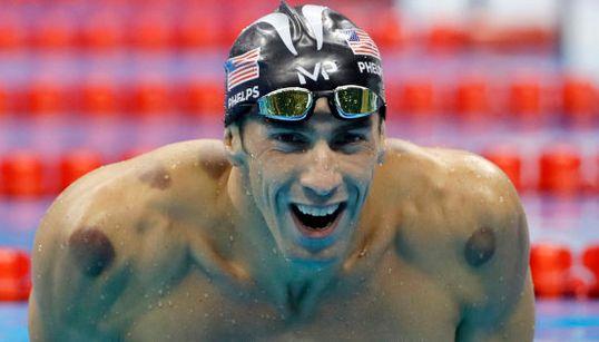 Una foto capta el momento en que el gran rival de Phelps se da cuenta de que va a