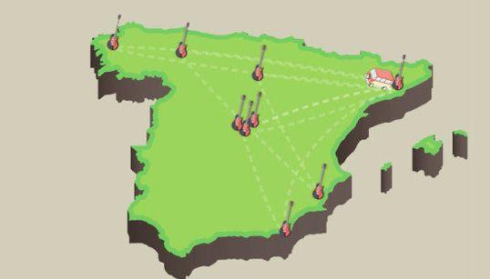 ¿Cuántos kilómetros recorre un grupo durante un