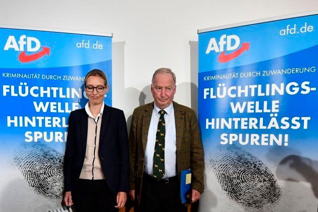 Los líderes del partido de extrema derecha alemán,