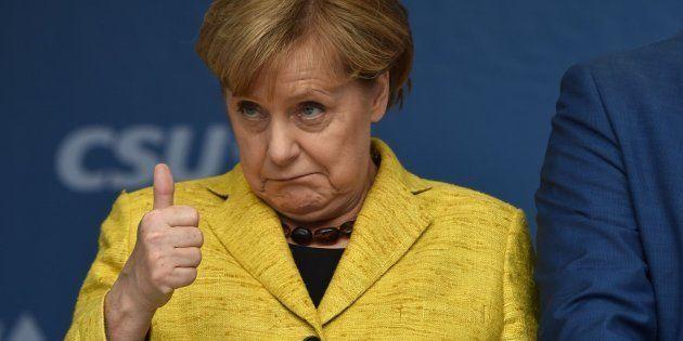 Imagen de archivo de la canciller alemana, Angela