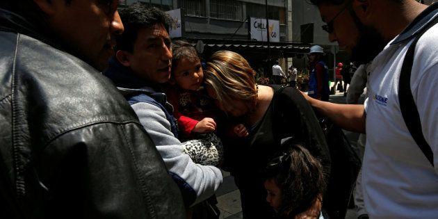 Supervivientes en el terremoto de
