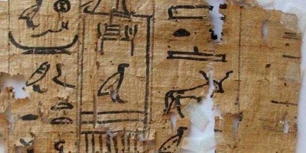 Hallan un papiro egipcio con consejos contra la