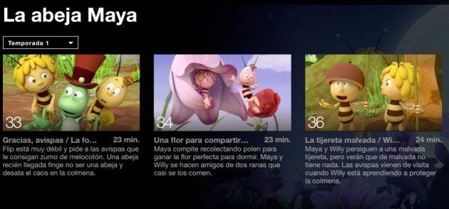 Netflix retira el capítulo 35 de 'La Abeja Maya' porque aparecía un pene en un