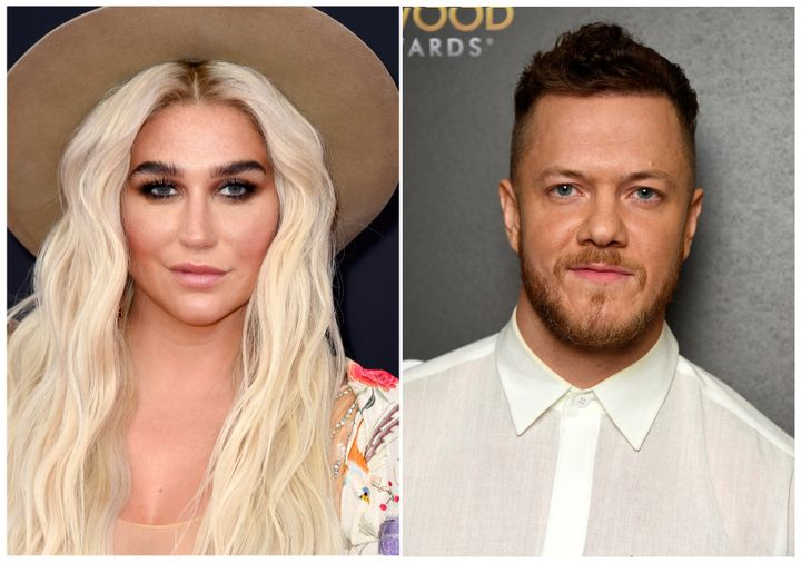 Kesha (left) will perform at Dan Reynolds' LOVELOUD Festival in Utah in June.