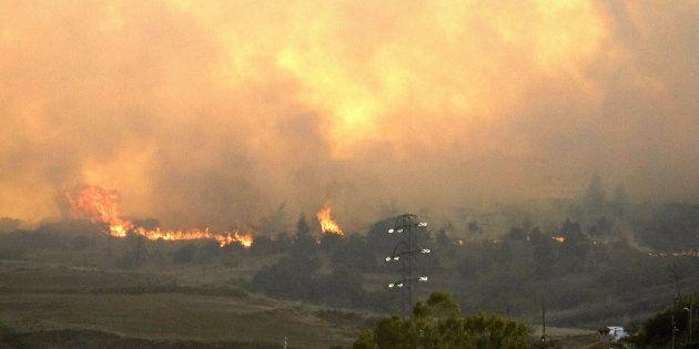 Un incendio en la cumbre de Gran Canaria quema 2.000 hectáreas en ocho