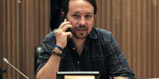 El secretario general de Podemos, Pablo Iglesias, el pasado 14 de septiembre al inicio hoy de la primera...