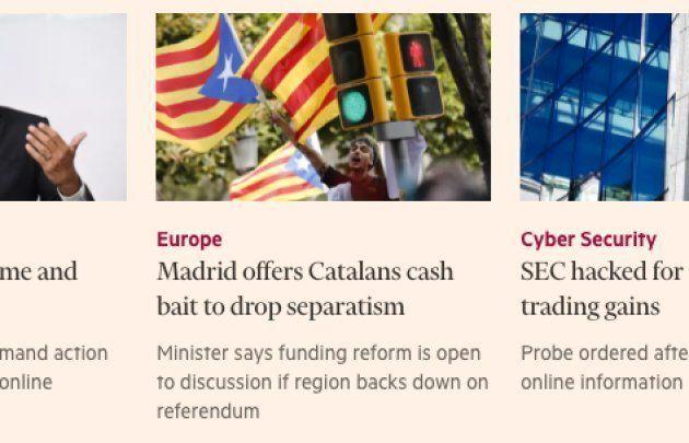 De Guindos plantea ofrecer dinero a Cataluña si desiste de la
