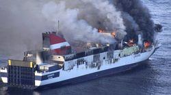 El ferry incendiado en Mallorca amenaza una zona de gran riqueza
