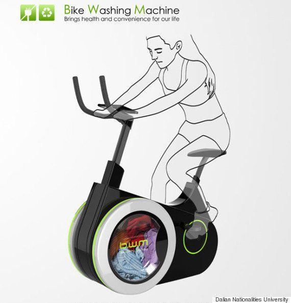 La bicicleta-lavadora: cómo mantenerse en forma mientras hacemos la