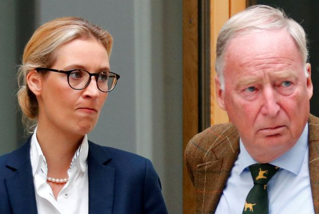 Alice Weidel (izq) y Alexander Gauland, líderes de