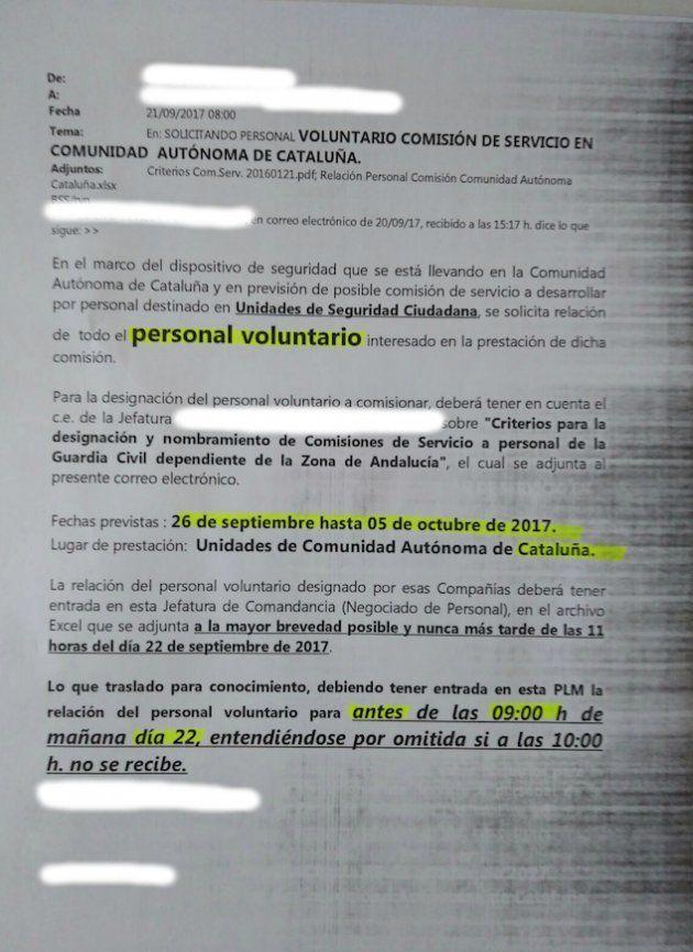 La Guardia Civil busca 500 agentes voluntarios en toda España para ir a