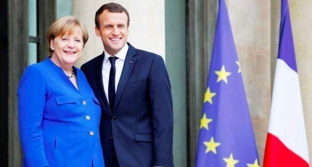 La canciller alemana, Angela Merkel, y el presidente francés, Emmanuel Macron, en una imagen de