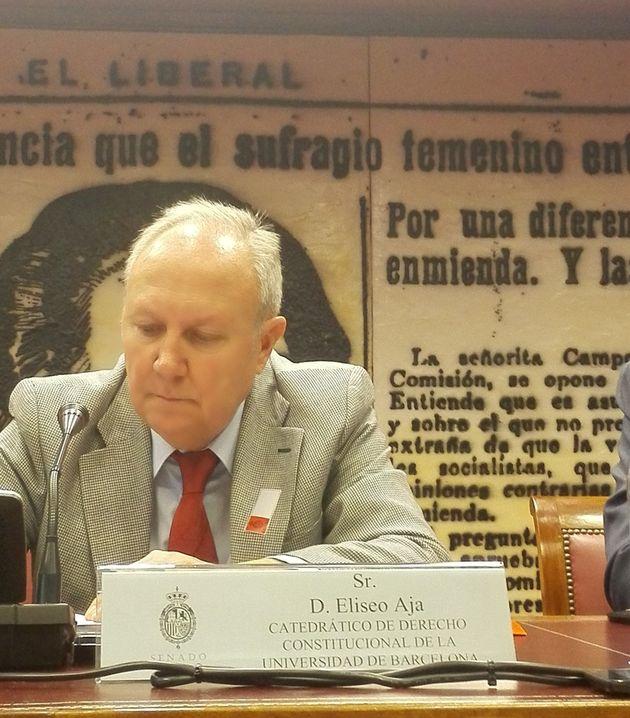 """Eliseo Aja: """"En crisis como esta es cuando la reforma de la Constitución adquiere mayor"""
