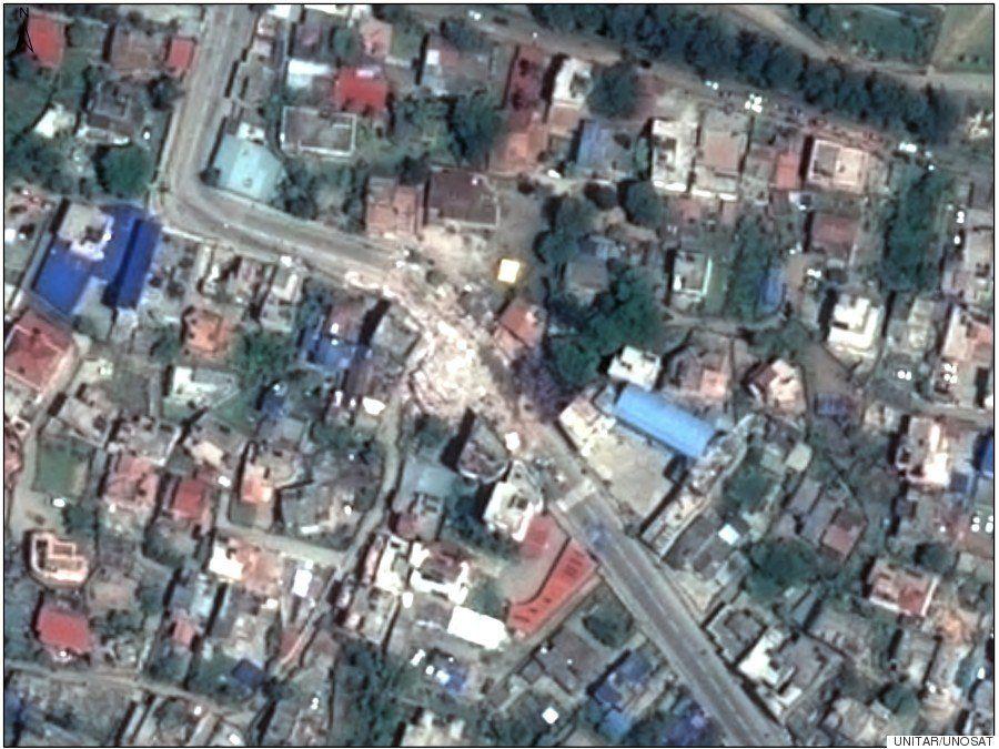 Imágenes por satélite muestran cómo improvisados campamentos se levantan en