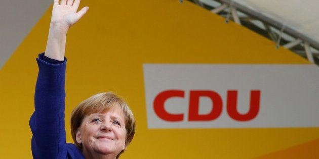 La canciller alemana, Angela Merkel, durante uno de sus actos de