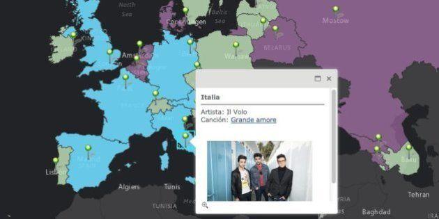 Eurovisión 2015: los rivales de Edurne (MAPA