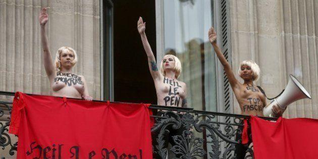 Femen revienta un acto del Frente Nacional