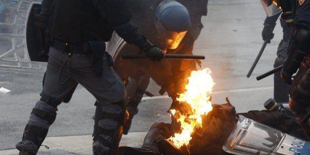 Las tremendas fotos de las protestas contra la Expo de
