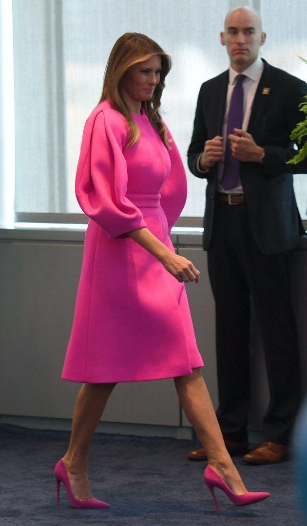La primera dama de EEUU, Melania Trump, en la