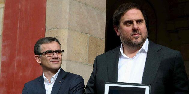 Josep Maria Jové y Oriol Junqueras, en una imagen de