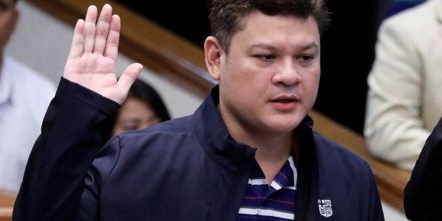 Paolo 'Pulong' Duterte, durante la audiencia en el Senado en la que fue acusado de narcotráfico, el pasado...