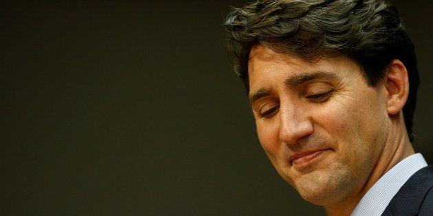 Justin Trudeau, el primer ministro de Canadá, durante su intervención en la Asamblea General de la ONU,...