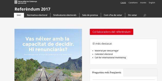 El Tribunal Superior de Justicia de Cataluña ordena cerrar la web con los puntos de votación del