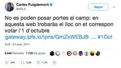 Puigdemont sortea a la Justicia y publica un nuevo enlace con los puntos de