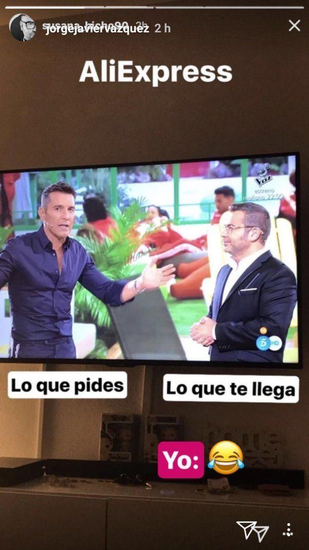 Jorge Javier Vázquez se ríe de sí mismo con esta broma sobre