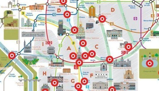 Madrid, a través de las canciones que mencionan sus rincones (MAPA
