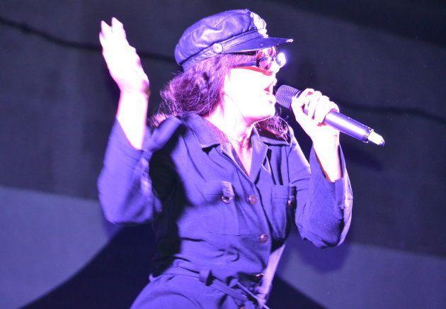 Nathy Peluso, durante un concierto en Orcasur el 23 de