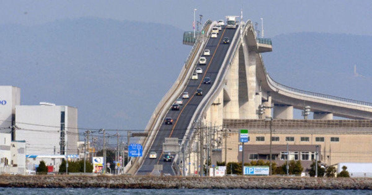 eshima ohashi  el puente de jap u00f3n que parece una monta u00f1a