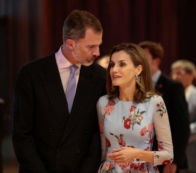 Los reyes Felipe y Letizia en la inauguración del centro de convenciones de Palma el 25 de septiembre...
