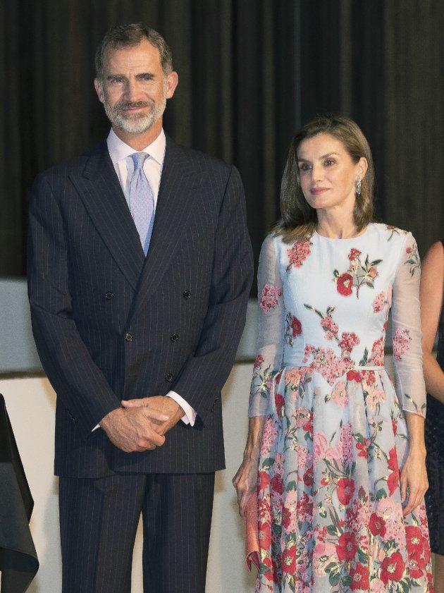 Los Reyes de España Felipe y Letizia en Palma durante la inauguración del Palacio de Congresos de