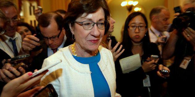 La senadora Susan Collins, cuyo voto ha sido clave para tumbar por tercera vez el proyecto para derogar...