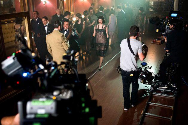 Blanca Suárez en uno de los escenarios del set de