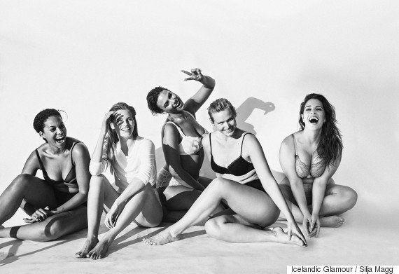 Modelos de todas las tallas se desnudan por la diversidad física en 'Icelandic