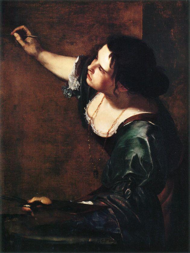 l'Autoretrat com Al.legoria de la Pintura. Artemisia