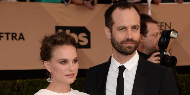 Actress Natalie Portman and Benjamin Millepied during the 23rd annual Screen Actors Guild Awards ( SAG...