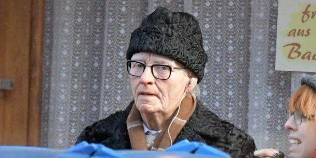 La actriz Tilda Swinton caracterizada para
